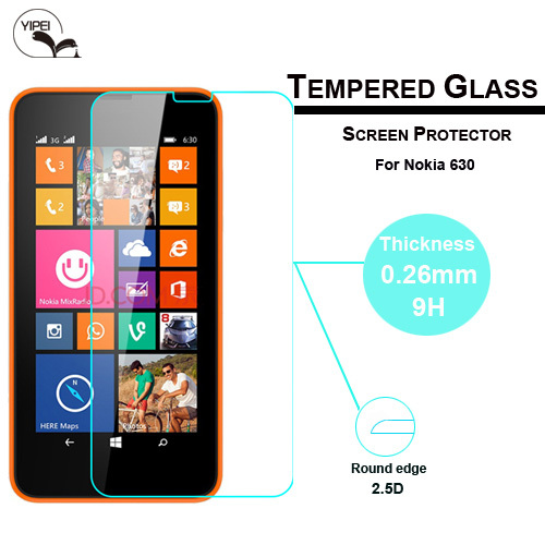 0.3mm 2.5D Premium 9H Hardness Tempered Glass Screen Protector For Nokia Lumia 630 Protective Film Free Shipping