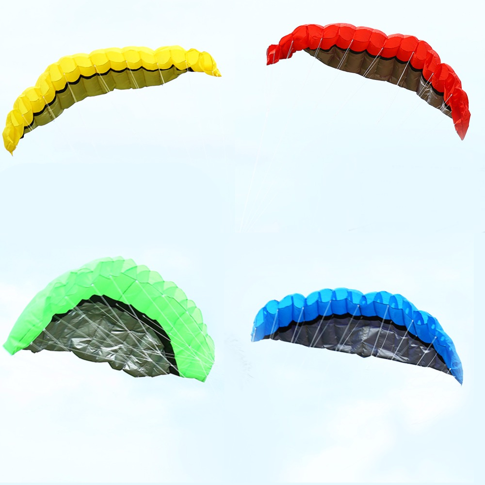 High quality 2.5m Stunt Dual Line Parafoil Kite Power Nylon Soft Kite Flying Tools Outdoor 4 colors choose Kite Factory D3