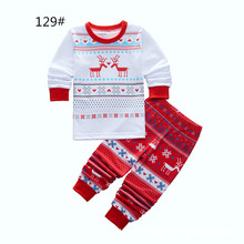 Buy Baby Girls Boys Christmas Pajamas Set Kids Striped Xmas Deer Snow Printed Long Sleepwear Set Family Christmas Nightwear Outfits for $6.80 in AliExpress store