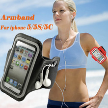 5G 5C Adjustable Running SPORT GYM Armband Bag Case for apple iPhone 5 5S 5C Waterproof Jogging Arm Band Mobile Phone Belt Cover(China (Mainland))