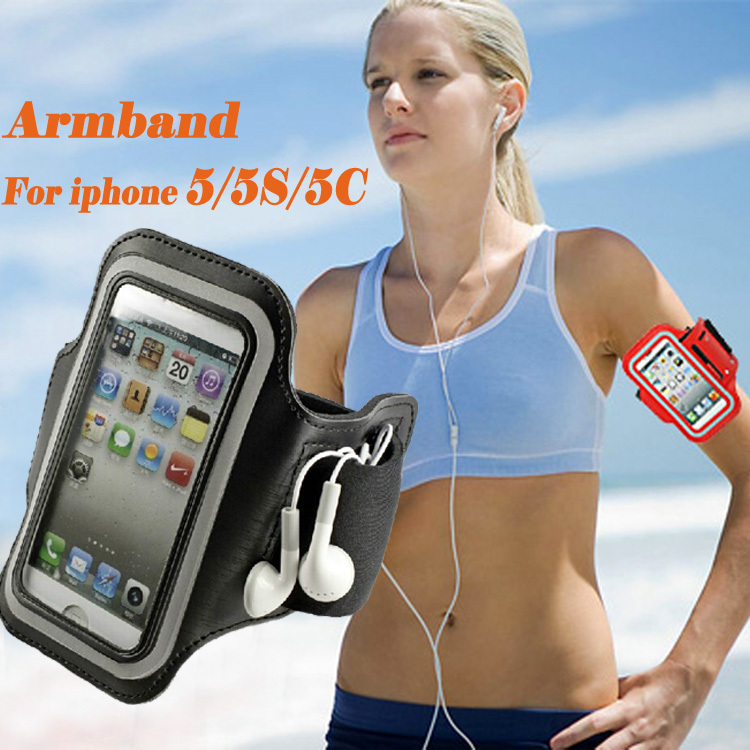Adjustable Running SPORT GYM Armband Bag Case for apple iPhone 5 5S 5C 5G Waterproof Jogging Arm Band Mobile Phone Premium Cover(China (Mainland))