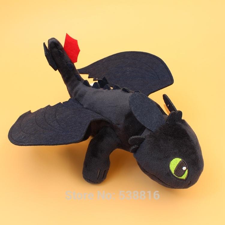 "Night Fury Plush Toy How To Train Your Dragon 2 Toothless Dragon Stuffed Animal Dolls 10""(China (Mainland))"