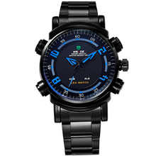 WEIDE Multi-function Mens Sport Watches Top Brand Analog LED Digital Display System Of 12/24 Hours 30m Waterproof Alarm Repeater(China (Mainland))