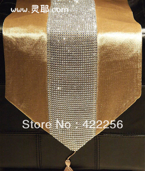 Modern brief sparkling diamond luxury table runner bed flag table mat table cloth table linen fashion fabric(China (Mainland))