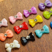 1x 2015 Fashion New Nail Art 12 Colors Resin Bow 3d Bow Butterfly Decorations Nail Art Rhinestones Beauty DIY Tools S02(China (Mainland))
