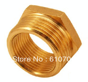 "Lot5 Brass Pipe 3/4""Male x 1/4""Female BSPP Connection Adapter Reducer Reducing Bushing Busher Connector Hexagon Plumbing Fitting(China (Mainland))"