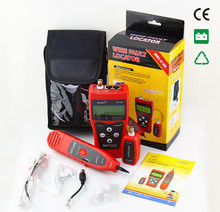 Free Shipping NF308 Multipurpose Network LAN Telephone Cable Length Tester 5E 6E cable coaxial RJ45