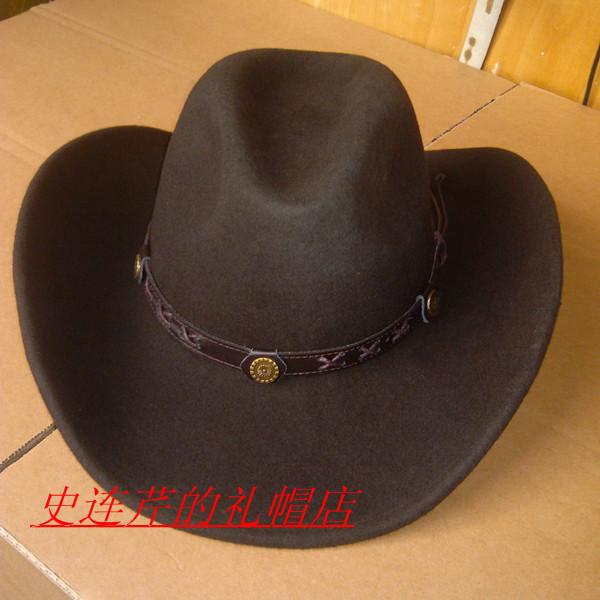 Wool fedora fashion cowboy hat knight cap waterproof wrinkle large brim woolen hat brand new(China (Mainland))