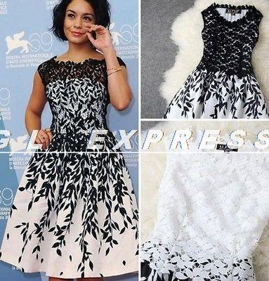 Sexy Women Sleeveless Embroidery Lace Dres Clubbing Cocktail Party Dress(China (Mainland))