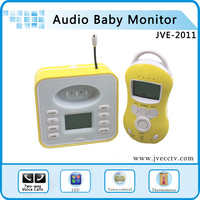 wireless Audio baby monitor two way talk digital Baby Monitor Temperature Infant 2 way Talk VOX LED+5Lullabies Free Shipping