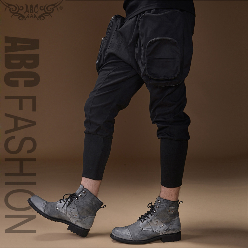 Rock singer on stage Summer clothes punk black male fashion harem pants for men casual fashion mens pants sports trousersОдежда и ак�е��уары<br><br><br>Aliexpress