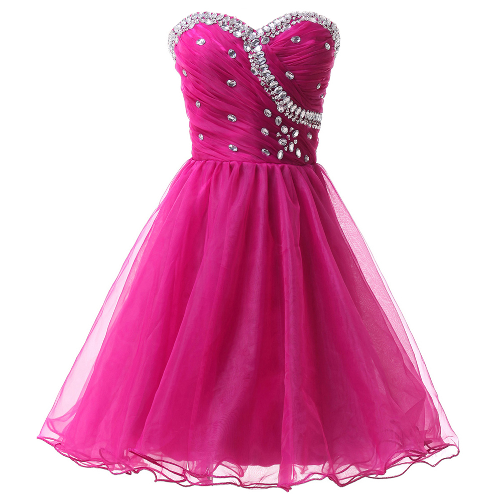 Young girl above knee black pink blue semi formal for Pink and blue wedding dresses