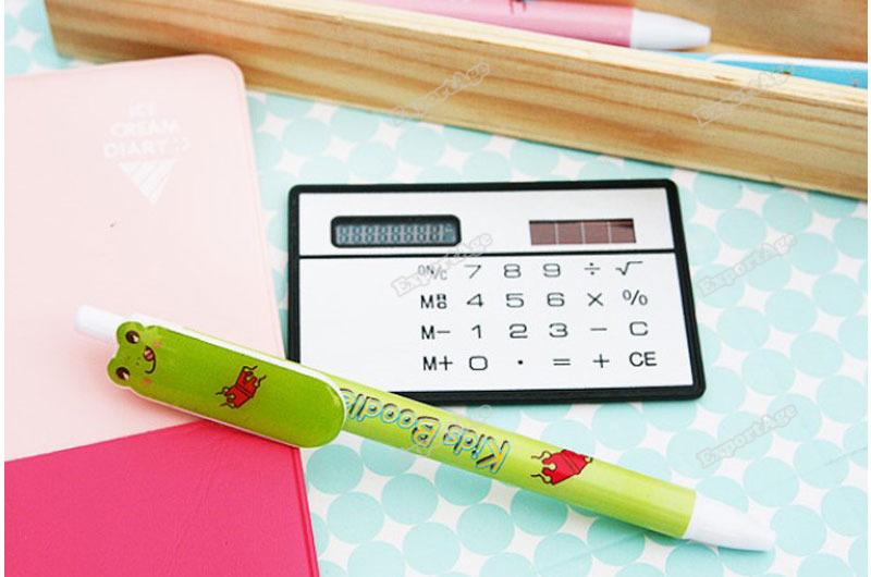 LidaBack Wonderful! Mini Slim Credit Card Solar Power Pocket Calculator Latest!(China (Mainland))