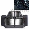 Black Stock Oil Cooler Cover For Fit Harley Touring Electra Road Street Glide 11 15