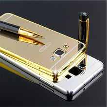 Buy Luxury Golden plating Aluminum Frame + Armor Mirror Acrylic Back Cover Case Samsung galaxy A7 E7 J7 2016 Phone Bags Cases for $2.73 in AliExpress store