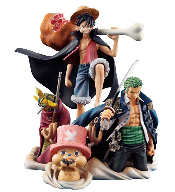 One Piece Anime Figure 200mm PVC Luffy Zoro Chopper Usopp Action Figures Toys Brinquedos Japanese - Top-buy Fancy Home store