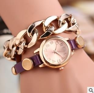 2015 fashion lady bracelet table Female hang act the role of student watches(China (Mainland))