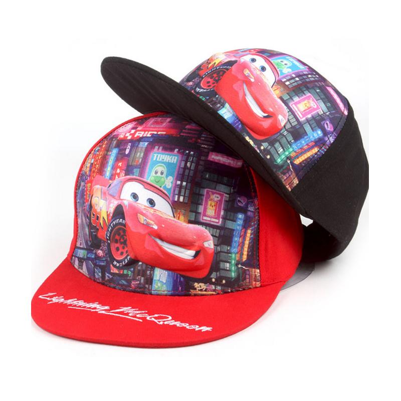 Fashion Summer Cars Hats Kids Baseball Cap Cartoon Hats Sunhat Baseball Caps Sport Cap Hat for Child Kids Boys Fit For 52-54cm(China (Mainland))