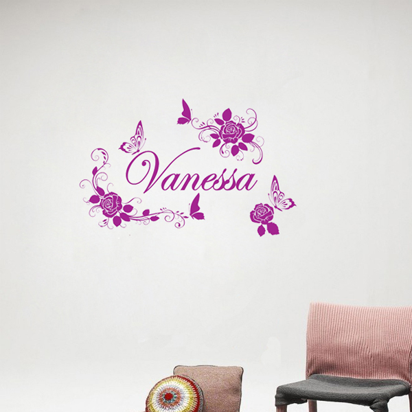 Rose Wall Decals Hot Sale Stickers Butterfly Princess Wallstickers Christmas Hot For Bedroom Decor Wall(China (Mainland))