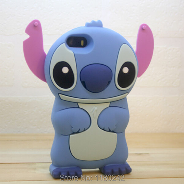 Apple iPhone 6 3D Stitch Cartoon Blue Silicone Soft Cover Back Phone Case 4.7 Inch - Beautiful Retail stores store