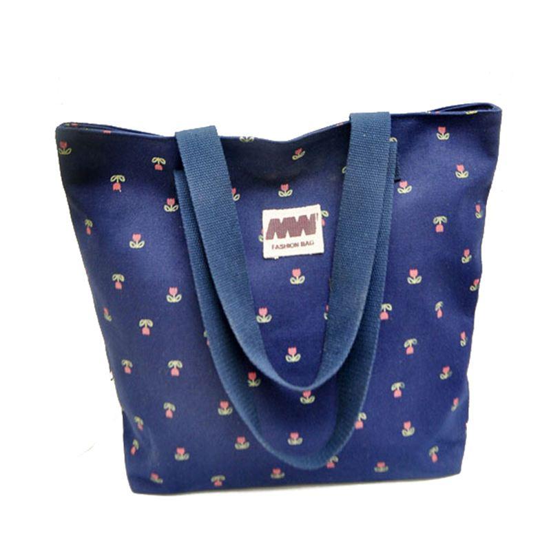 new big discount women canvas bags cute casual handbags women messenger bags shoulder bag printing flower shopping bag S16-15(China (Mainland))