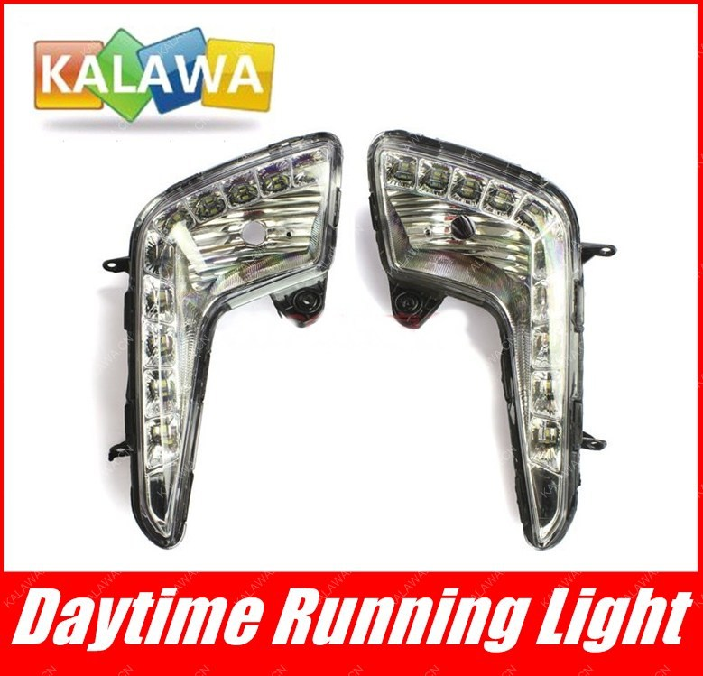 one pair Special LED daytime running lights,DRL, high power fog lamp assembly,highlighting fit for K.I.A K2 GGG<br><br>Aliexpress