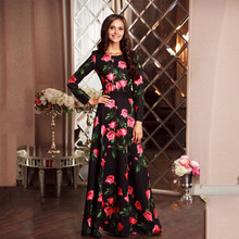 Buy 2017 Summer Style Women Dress Long Sleeve O-Neck Casual Fashion Slim Print Party Dresses Maxi Dress Plus Size Vestidos for $16.13 in AliExpress store