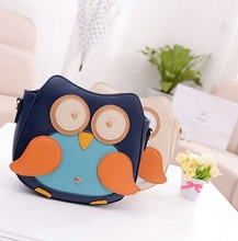 Owl Print Cartoon Purse Famous Designers Brand Little Girl Handbags Cute PU Leather Crossbody Bag Sac Pas Cher