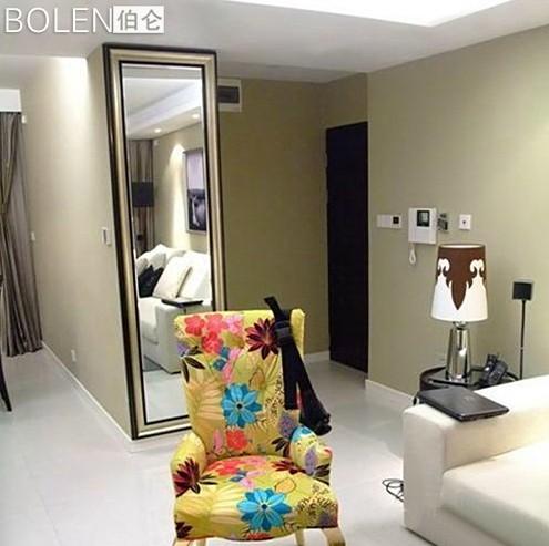 Enmarcado moderna pared refleja espejo de cuerpo entero for Espejo pared cuerpo entero