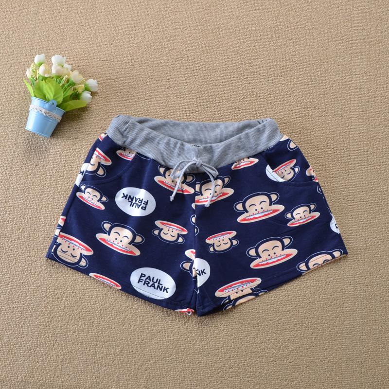 Cartoon Shorts Female Summer New Casual Cotton Sports Beach Shorts Elastic Waist Slim Shorts For Girls Bermudas Mujer(China (Mainland))