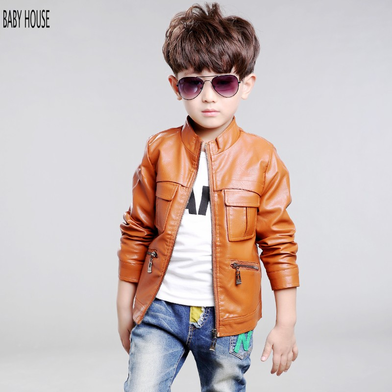 New Autumn Winter Boys Leather Jacket Fashion Boys Coat Veste Manteaux Enfants Boys Jacket BC024(China (Mainland))
