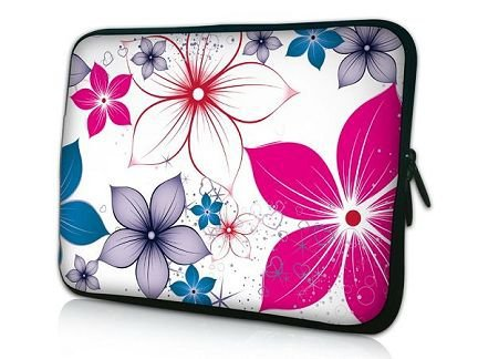 "Fashion Flower 15"" 15.4"" 15.6"" Neoprene Notebook Soft Case Bag Laptop Sleeve 15.5""(China (Mainland))"