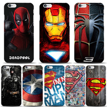 Low Price High Quality Hot Selling Mobile Phone Case Back Hard Cover for iPhone 6 6S Plus 6P Superman Deadpool Batman Capinhas