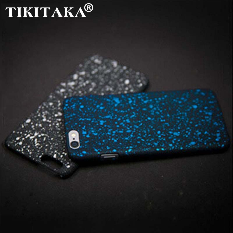 TIKITAKA Wholesale New Style 3D Cover Three-dimensional Stars Ultra thin Frosted Starry Sky Phone Case for iPhone 5 5s SE Shell(China (Mainland))