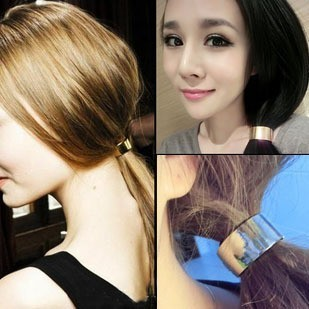 2014 Fashion Hair Accessories Metal Alloy Round Elastic Hair Bands For Women F037