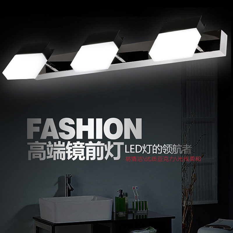 modern led mirror light bedroom vanity wall lamp 10w stainless steel lights for home lighting fixtures bathroom wall lamps(China (Mainland))