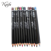 Brand Make Up 12 Colors Eyeliner Pencil Waterproof Eyebrow Beauty Pen Eye Liner Lip sticks 3 in 1 cosmetics pencils Eyes Makeup(China (Mainland))