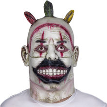 Halloween Zombie maska rekwizyty straszny duch zabezpieczający Zombie maska realistyczne Masquerade maska Halloween długie włosy duch Horror maska(China)