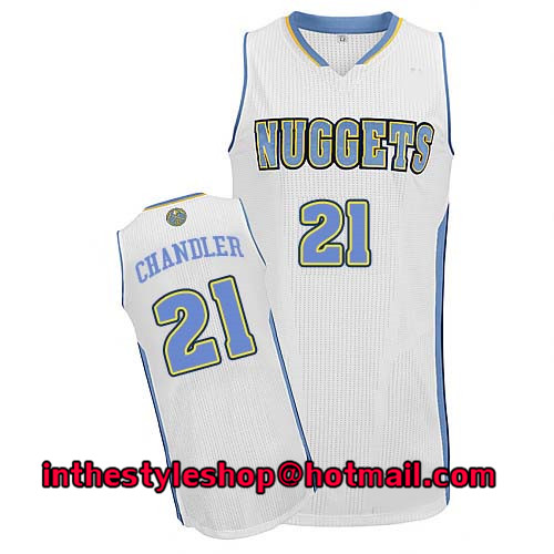 Men's #21 Wilson Chandler White Home Basketball Jersey Tops High Quality Stitched(China (Mainland))
