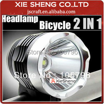 1800lm cree xml t6 led bike light led headlamp contain 8.4V 6600mAh battery pack+charger+rubber rings+head strap+gift box