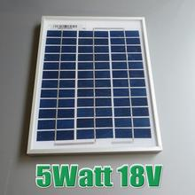 Hot Sale 5W 18V Polycrystalline silicon Solar Panel used for 12V photovoltaic power home system 5Watt