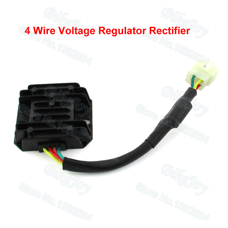 4 Wire Voltage Regulator Rectifier for ATV Quad Pit Dirt Bike GY6 Moped Scooter 125cc 150cc(China (Mainland))