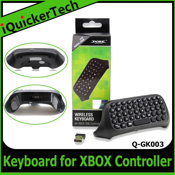 50PCS/Lot Free DHL/FeDEX Newest 2.4G Mini Wireless Text Messenger Keyboard Chatpad Keypad For Xbox one Controller Q-XK001(China (Mainland))