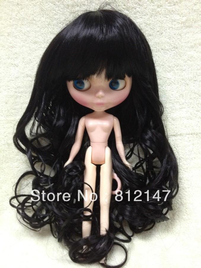 Blythe doll wig(black long hair)-L039#1B(China (Mainland))