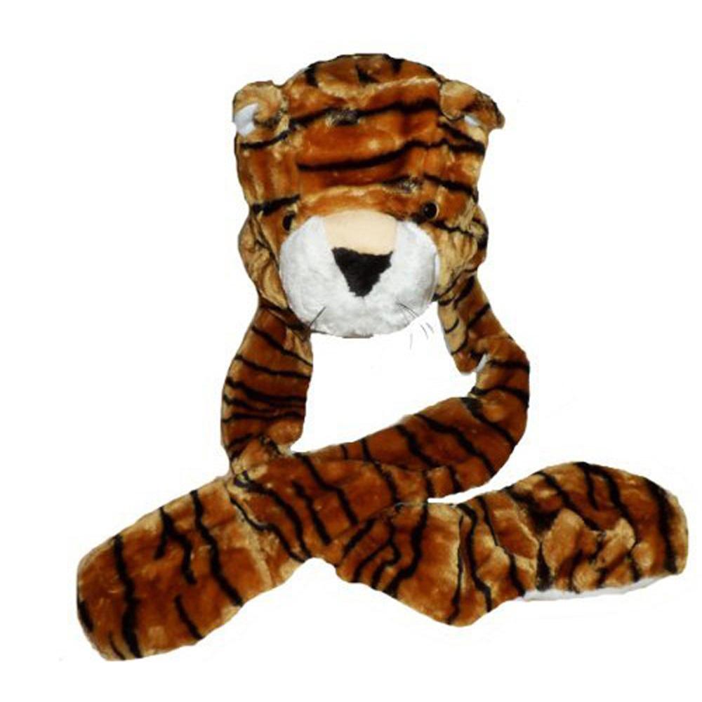 Kids Tiger Brown Plush Winter