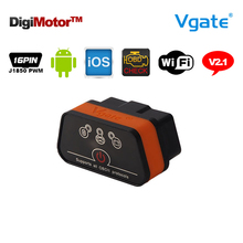 Buy Original Vgate iCar2 Wifi OBD2 ELM327 China ELM 327 v2.1 Wi Fi OBDII Diagnostic Tool Scanner Wi-Fi OBDII iPhone iOS Android for $19.99 in AliExpress store