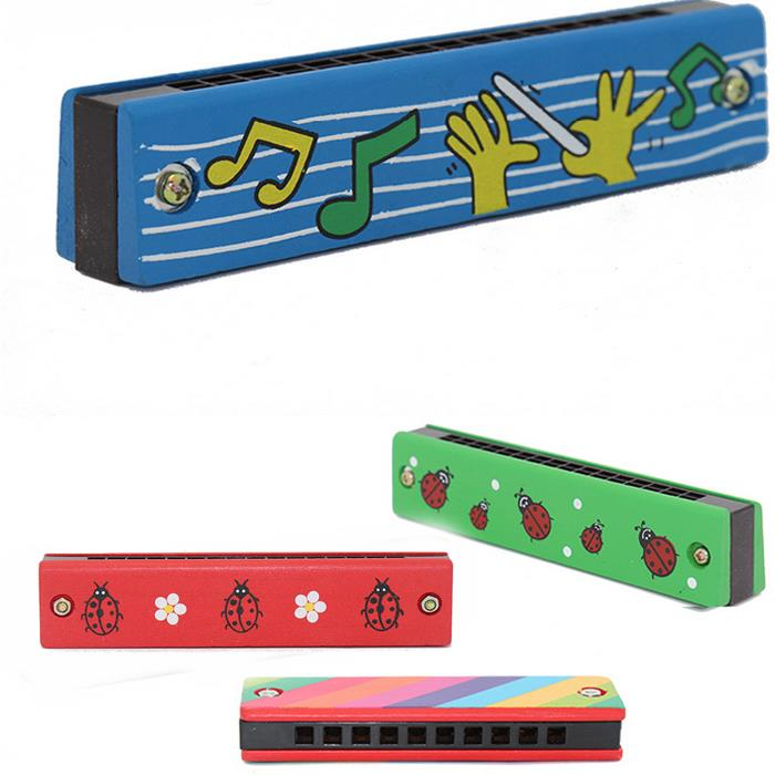 Lovely Wooden Kids Cute Harmonica Musical Instrument Puzzle Educational Craft Toy(China (Mainland))