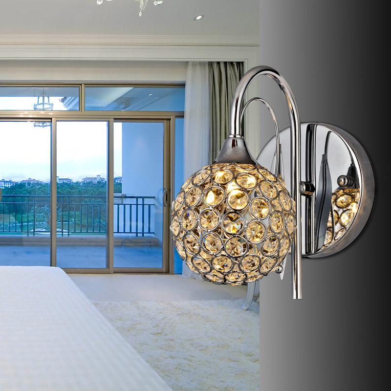Brief k9 modern crystal wall lamp art bed-lighting mirror light sconces G9 220V - Ala Lighting Corporation store