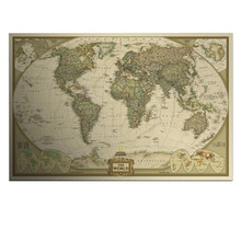 Gran mapa del mundo del Vintage decoración del hogar detallada de la antigüedad del cartel pared de la carta Retro papel mate papel Kraft 28 * 18 pulgadas mapa de mundo(China (Mainland))