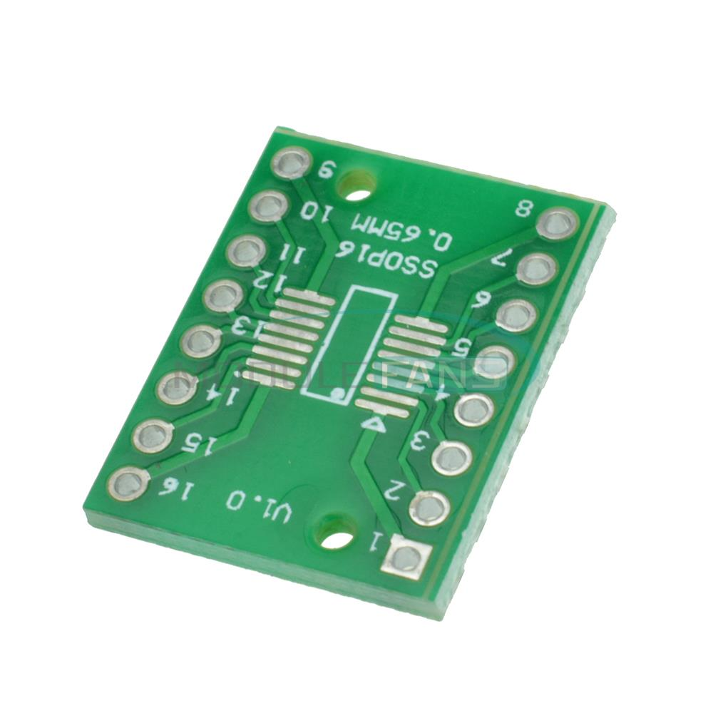 Гаджет  10pcs SOP16 SSOP16 TSSOP16 To DIP16 0.65/1.27mm IC Adapter PCB Board None Электронные компоненты и материалы